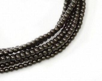 MP-Black Czech Mini Pearls 2mm #70409