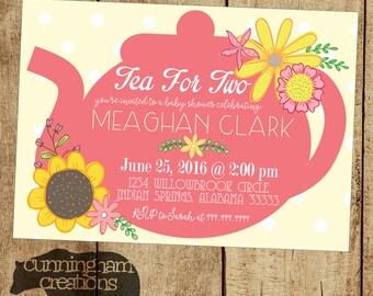 Digital/Printable Teapot Invitation