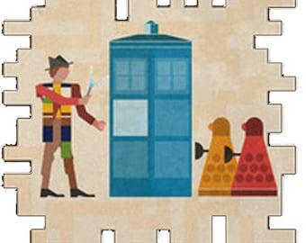 Doctor Who Inspired Cross Stitch hieroglyphic theme
