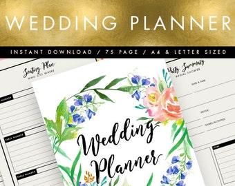 Handmade printable wedding planner Etsy