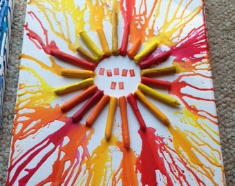 Melted Crayon Sun