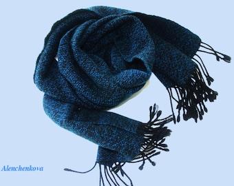 Cashmere scarf hand woven cashmere silk merino wool scarf