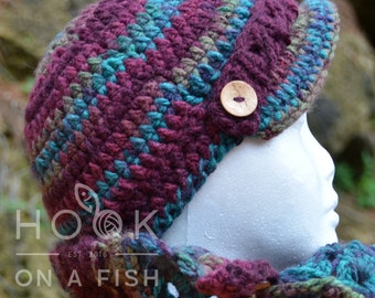 Jewel Tones Brimmed Cap