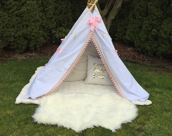 Boho Chic Pink and Gold Teepee