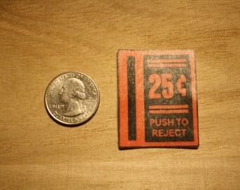 25 Cents To Play Arcade Machine Sticker, push to eject sticker