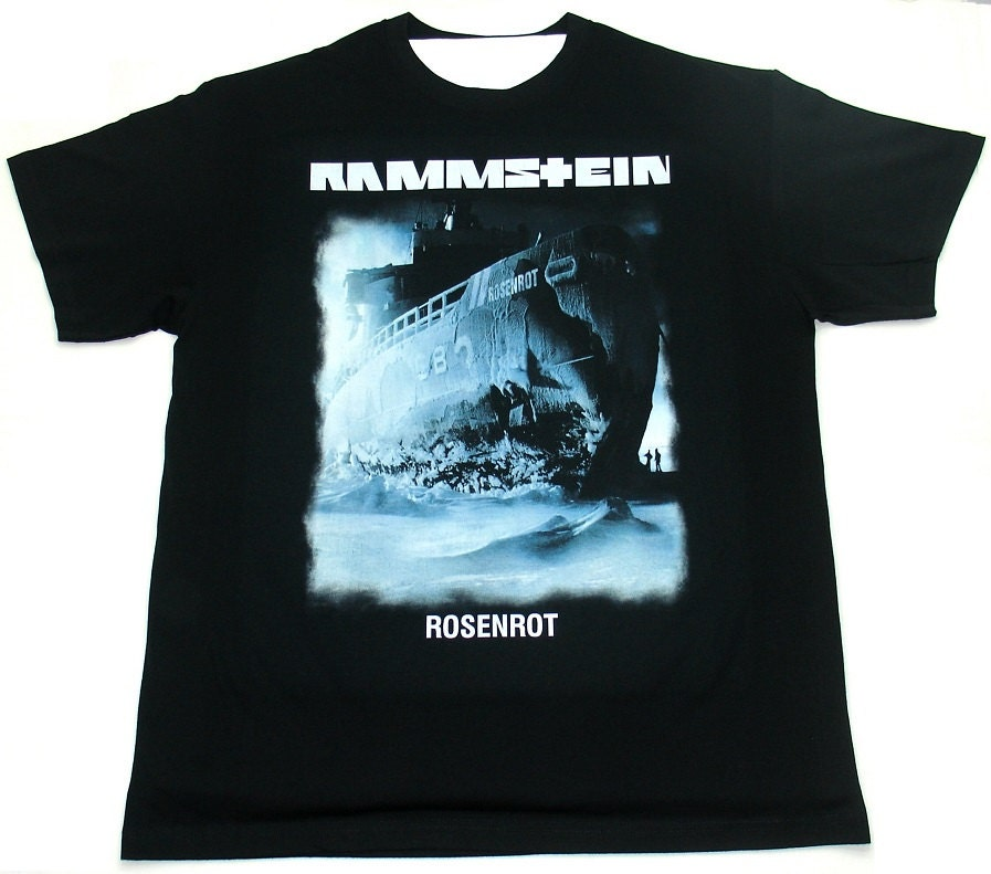 rammstein t shirt rosenrot 2 by pavra on etsy. Black Bedroom Furniture Sets. Home Design Ideas