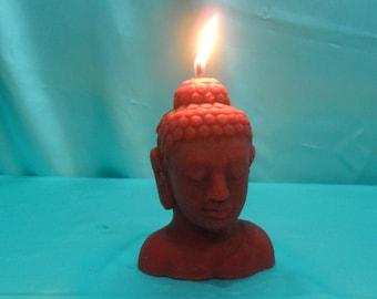 Pure beeswax Buddha head candle. Buddha candle. Meditation candle. Zen atmosphere. Big size
