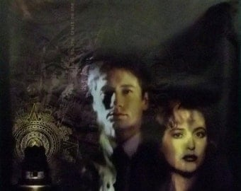 X-Files 23x35 Anasazi Temple Poster 1997 Scully & Mulder