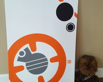 Star Wars BB-8 Canvas Painting