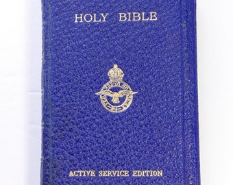 WW2 Active Service Edition Pocket Holy Bible RAF Military Old New Testament