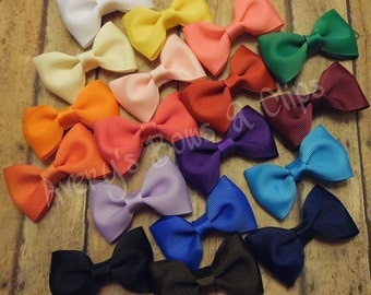 Simple Bow Tie Handmade Clips: Set of 18