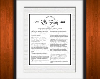 Family Proclamation, White Brick 11 x 14