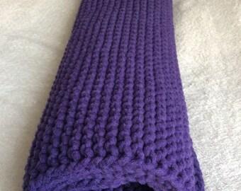 Purple cotton rug