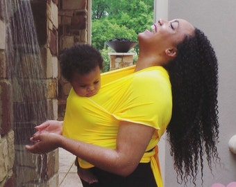 Baby Wraps Carriers by Bozi Baby™ - Babywearing in Lemon Squeeze Me Yellow