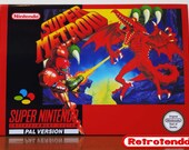 Super Metroid SNES Super Nintendo Reproduction Box  Insert Only No Game PAL Version