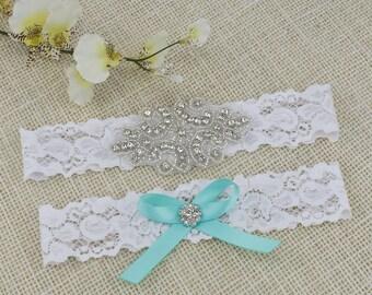 Crystal Bridal Garter Set Bridal Garter Wedding Garter Lace Garter Rhinestone Crystal Bridal Garter Rhinestone Garters