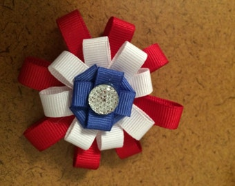 Red White and Blue Barrette