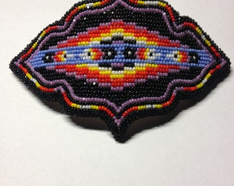 Native American Beaded Barette