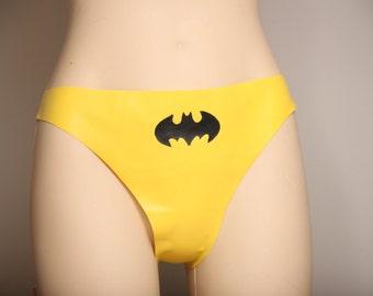 Latex Batman Thong