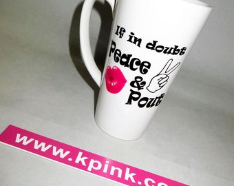 Peace & Pout Latte Mug