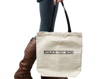 Police Public Call Box Dr Who Inspired Tote Handbag Shoulder Bag Purse SP-00132