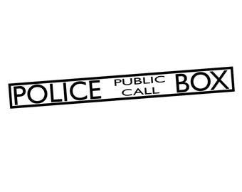 DECAL SERPENT (SP-132) Police Public Call Box Dr Who Inspired Vinyl Car Decal