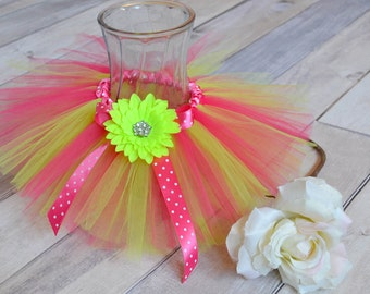 Pink & Lime Green Tulle Tutu