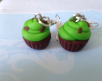 super kawaii earrings made of polymer clay