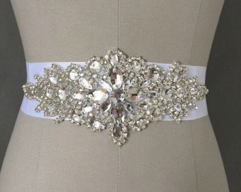 Crystal Wedding Bridal Sash