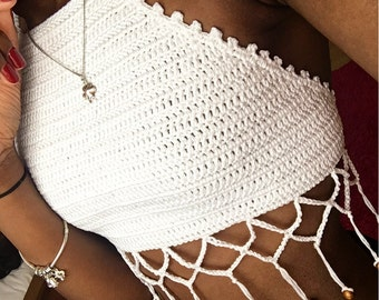 Kanawe Halter Neck Festival Beach Summer Crop Top