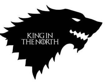 Game of Thrones - King in the North - Decal