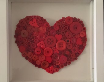 Love heart valentines day picture frame