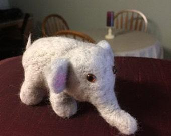 Elephant-Needle Felted