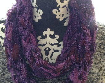 Versatile Cowl In beautiful shades of Purple Lavender and Burgundy