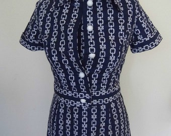 1950s/60s Horrockses shift dress and matching jacket (8-10)