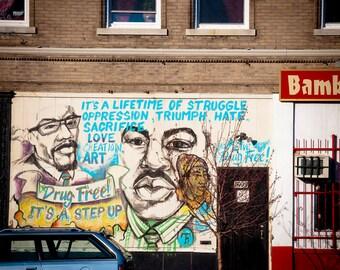 Martin Luther King, Jr. Graffiti 5x5 Photograph
