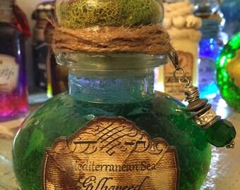 Harry Potter gillyweed potion, Harry Potter gift, Harry Potter potion, Hogwarts, home decor, glass decor harry potter art