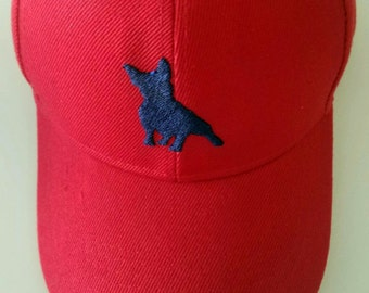Puppy Silhouette Embroidered Cap