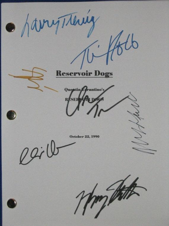 Reservoir Dogs Signed Film Movie Script Screenplay Autographs X7 Quentin Tarantino Harvery Keitel Tim Roth Chris Penn Buscemi Michael Madsen
