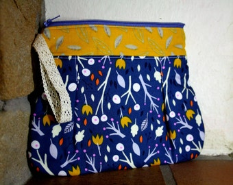 Clutch Bag, Makeup Bag, Purse, Modern & Colourful