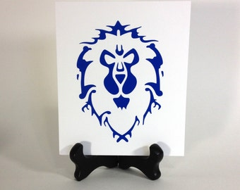 Alliance Sticker, WoW Alliance Decal, Alliance Decal, Blue Alliance, World of Warcraft Fan Art Cataclysm, Warlords of Draenor Alliance Decal