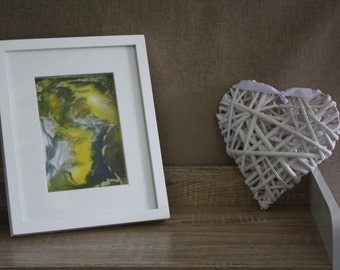 Abstract Resin Art Framed in Shadow Box