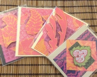Pink Patterened Blank Cards