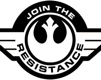 Star Wars Resistance Symbol Logo Decal for Car/Laptop