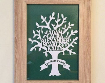 Paper cut Family Tree