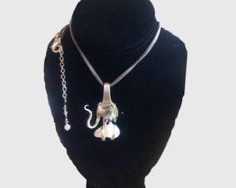 Sterling Silver Fork Pendant Necklace