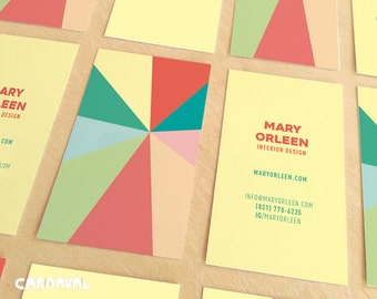 Business Card. Digital Business Card. Branding. Colorful Calling Card