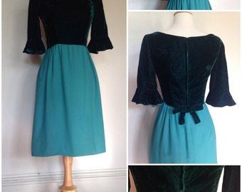Evergreen Velvet Dress