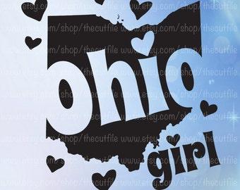 Ohio Girl svg, Ohio state svg. For cutting, printable, iron on transfer, htv vinyl, clip art, tshirt design