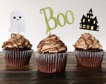 Halloween cupcake toppers, halloween decorations, cupcake toppers, halloween party decorations